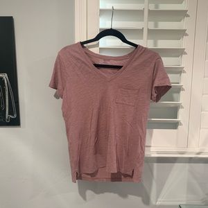 Madewell Light Pink V Neck